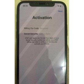iPhone AT&T Activation Billing ZIP Code + SSN 4 DIGITS