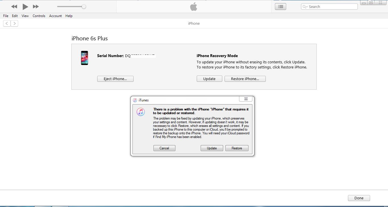 Cara Restore iPhone iOS melalui iTunes dengan Windows PC